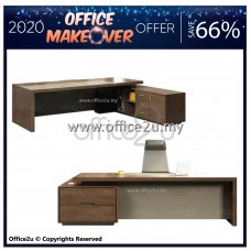 [ 2020 OFFICE MAKEOVER OFFER ] WOODY SERIES DIRECTOR TABLE SET C/W SIDE CABINET