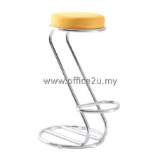 F/14 HIGH BAR STOOL WITH CHROME LEG