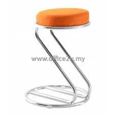 F/15 LOW BAR STOOL WITH CHROME LEG