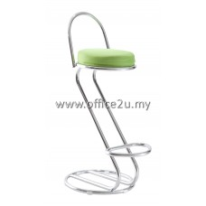 F/16 HIGH BAR STOOL WITH CHROME BACKREST AND LEG
