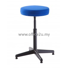 F/18 LOW BAR STOOL WITH BLACK EPOXY LEG