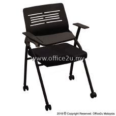 OXFORD TRAINING FOLDABLE CHAIR C/W RETRACTABLE TABLET (PP BACK)