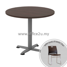 PACKAGE-R1 : ROUND DISCUSSION TABLE + 4UNITS OF MAXX CHAIR