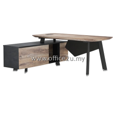 (LIMITED SET ONLY) WS-E001 : EXECUTIVE L-SHAPE TABLE SET WITH SIDE CABINET