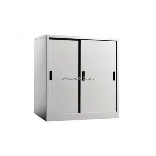 C-111 HALF HEIGHT STEEL CUPBOARD WITH STEEL SLIDING DOOR