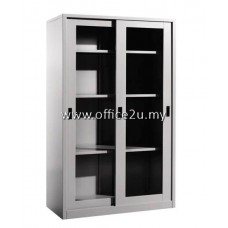 C-119 FULL HEIGHT STEEL CUPBOARD WITH GLASS SLIDING DOOR