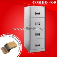COMBO SPECIALS #9 : C-106/A 4-DRAWERS STEEL FILING CABINET + 1BOX OF CONTINUOS FILING POCKET