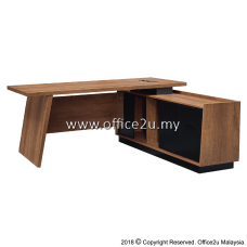 ANSON SERIES DIRECTOR TABLE SET WITH SIDE CABINET