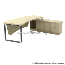 Q-OXR2462 OVERJOY SERIES DIRECTOR TABLE SET WITH SIDE SIDE CABINET (RIGHT) - TOP THICKNESS : 41MM