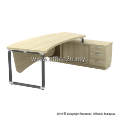 Q-OXR2463 OVERJOY SERIES DIRECTOR TABLE SET WITH SIDE SIDE CABINET (RIGHT) - TOP THICKNESS : 41MM