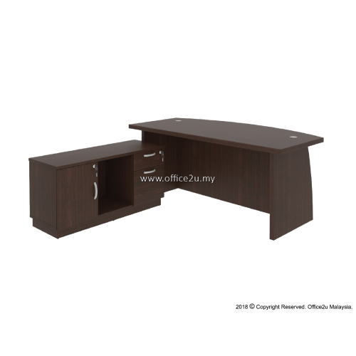 COMBO-QX03 QUINCY SERIES DIRECTOR TABLE SET WITH SIDE CABINET
