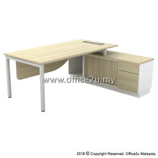 B-SWE2162(E) SKYWALK SERIES DIRECTOR TABLE SET WITH SIDE CABINET