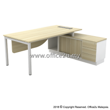 B-SWE2163(E) SKYWALK SERIES DIRECTOR TABLE SET WITH SIDE CABINET