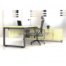 Q-SWE2202 SQUARE SERIES DIRECTOR TABLE SET WITH SIDE CABINET