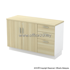 B-YDP7123 COMBINATION LOW CABINET (SWINGING DOOR + FIXED PEDESTAL 2D1F)