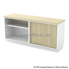 B-YOS7160 COMBINATION LOW CABINET (OPEN SHELF + SLIDING DOOR)