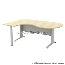 BL-66M BILLY SERIES COMPACT L-SHAPE METAL J-LEG TABLE