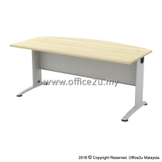 BMB-180A BILLY SERIES CURVE-FRONT METAL J-LEG EXECUTIVE TABLE