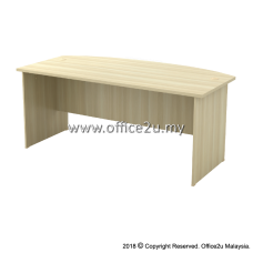 EXMB-180A EXOTIC SERIES 6FT CURVE-FRONT EXECUTIVE TABLE