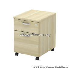 Q-YM2-BA MOBILE PEDESTAL 1-DRAWER AND 1-FILING (1D1F)
