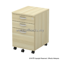 Q-YMP3-BA MOBILE PEDESTAL 2-DRAWER AND 1-FILING (2D1F)