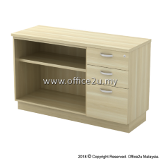 EX-YOP7123 COMBINATION LOW CABINET (OPEN SHELF + FIXED PEDESTAL 2D1F)