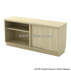 Q-YOS7160-BA COMBINATION LOW CABINET (OPEN SHELF + SLIDING DOOR)