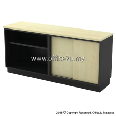 T-YOS7160 COMBINATION LOW CABINET (OPEN SHELF + SLIDING DOOR)