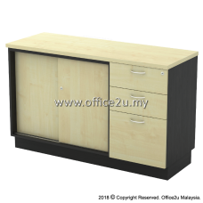 T-YSP7123 COMBINATION LOW CABINET (SLIDING DOOR + FIXED PEDESTAL 2D1F)
