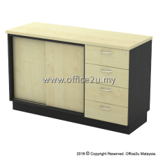 T-YSP7124 COMBINATION LOW CABINET (SLIDING DOOR + FIXED PEDESTAL 4D)