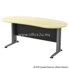 TMB-33 TIMELESS SERIES 6FT METAL J-LEG EXECUTIVE TABLE