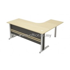 TL-M TIMELESS SERIES COMPACT L-SHAPE METAL J-LEG TABLE