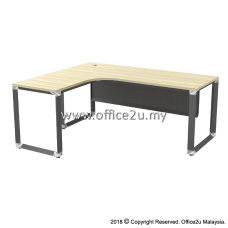 OML OVERJOY SERIES COMPACT L-SHAPE TABLE - METAL MODESTY PANEL