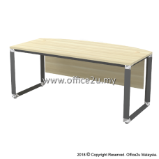 OWB-180A OVERJOY SERIES CURVE-FRONT EXECUTIVE TABLE - WOODEN MODESTY PANEL