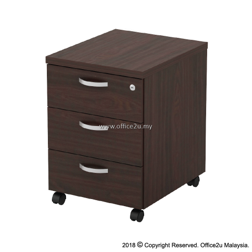 Q-YM3-W MOBILE PEDESTAL 3-DRAWERS (3D)