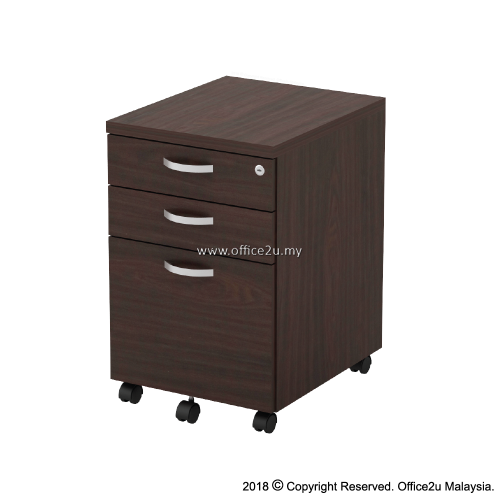 Q-YMP3-W MOBILE PEDESTAL 2-DRAWER AND 1-FILING (2D1F)