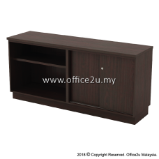 Q-YOS7160 COMBINATION LOW CABINET (OPEN SHELF + SLIDING DOOR)