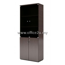 QB-2025 QUINCY SERIES BOOKSHELF CABINET WITH GLASS DOOR