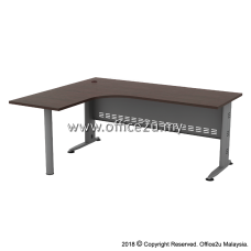 QL-M QUINCY SERIES COMPACT L-SHAPE METAL J-LEG TABLE