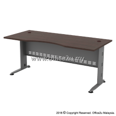 QMB-11 QUINCY SERIES 6FT METAL J-LEG EXECUTIVE TABLE
