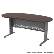 QMB-33 QUINCY SERIES 6FT METAL J-LEG EXECUTIVE TABLE