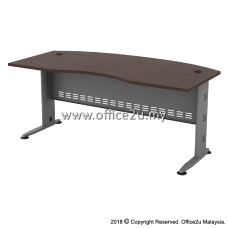 QMB-55 TIMELESS SERIES 6FT METAL J-LEG EXECUTIVE TABLE