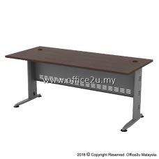 QT QUINCY SERIES RECTANGULAR METAL J-LEG TABLE