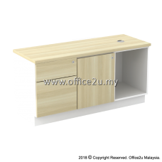 B-YLP1226(E) SIDE CABINET (OPEN SHELF + LEFT SWINGING DOOR + FIXED PEDESTAL 1D1F)
