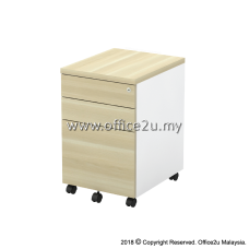 B-YMP3(E) MOBILE PEDESTAL 2-DRAWERS AND 1-FILING - CHAMFERED EDGE