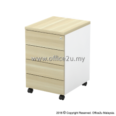 B-YMP4(E) MOBILE PEDESTAL 4-DRAWERS - CHAMFERED EDGE