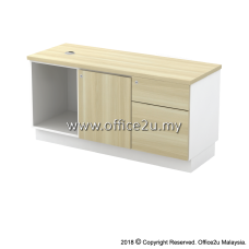 B-YRP1226(E) SIDE CABINET (OPEN SHELF + RIGHT SWINGING DOOR + FIXED PEDESTAL 1D1F)