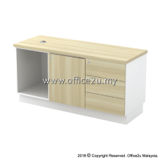 B-YRP1236(E) SIDE CABINET (OPEN SHELF + RIGHT SWINGING DOOR + FIXED PEDESTAL 3D)