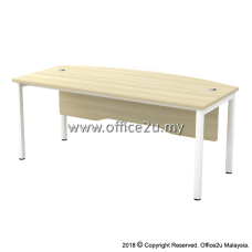 SWB-180A SKYWALK SERIES CURVE-FRONT EXECUTIVE TABLE WITH WOODEN MODESTY PANEL