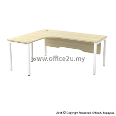SWL SKYWALK SERIES COMPACT L-SHAPE TABLE WITH WOODEN MODESTY PANEL